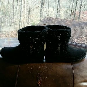 G by Guess sequin sweater boots 8.5